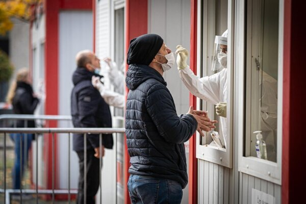 Nationwide coronavirus testing in Bratislava, October 31, 2020.