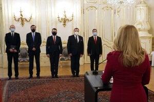 President Zuzana Čaputová handed credentials to five new ambassadors to key postings.