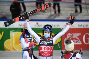 Petra Vlhová wins the slalom in Zagreb.