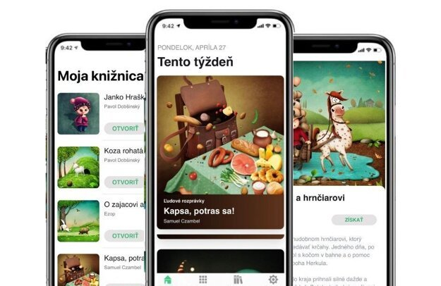 The 'Readmio' app offers dozens of tales in Czech, English and Slovak.