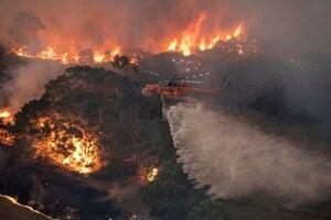 Fires in Australia in early 2020.