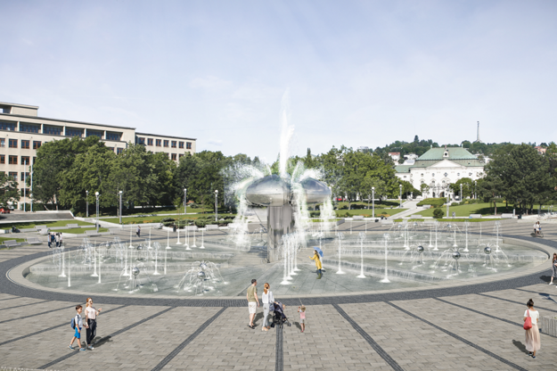The visualisation of how the Námestie slobody square, with its iconic fountain, should look like after its revitalisation.