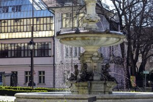 WEEK 15: Fountains, including the Ganymed Fountain on Hviezdoslav Square (picture), are turned back on in Bratislava.