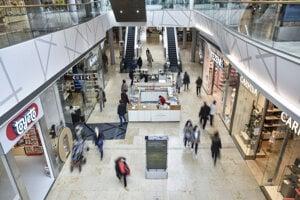 A shopping centre in Bratislava.