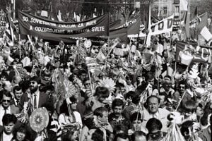 May Day rallies were attended by thousands of people before 1989.