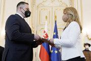 President Zuzana Čaputová appointed new SIS director Michal Aláč on May 6.