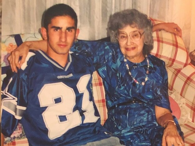 Parviz Malakouti-Fitzgerald with his grandmother Elizabeth at age 15.