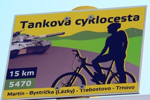 A tank road outside Martin remains a hidden gem for cyclists who do not live in the Turiec region.