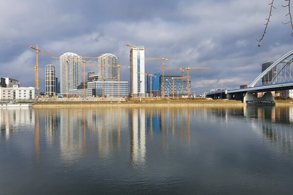The skyline of Bratislava has been changing rapidly.