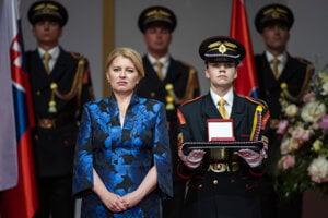 President Zuzana Čaputová during the ceremony