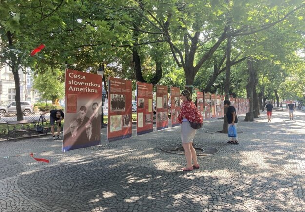The Journey through Slovak America exhibition in Bratislava.