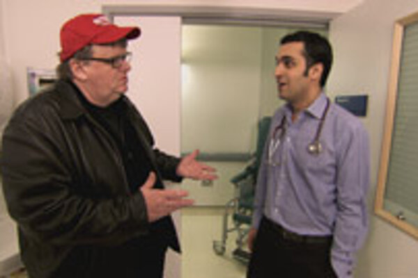 Michael Moore interviews doctors from around Europe in his new movie, Sicko.