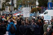 The protest against attempts to restrict access to abortions held in Bratislava on October 18.