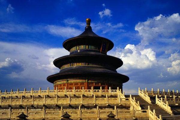 The Temple of Heaven in Beijing.