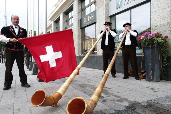 Swiss culture in Bratislava's streets.