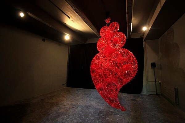 Two exhibits, the Red Independent Heart and Everything for the Nation, were highlights at Café Portugal.