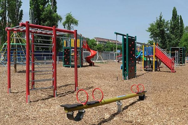 Companies also reconstruct children's playgrounds as part of their CSR activities.