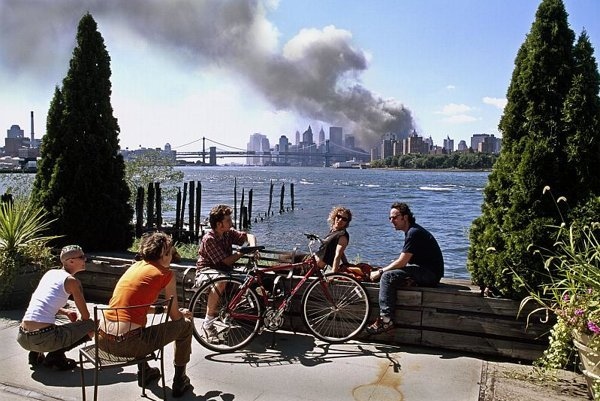 A scene from New York on September 11, 2001.