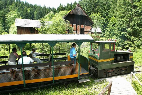 One of the forest trains at the Museum of Kysuce Village in Vychylovka