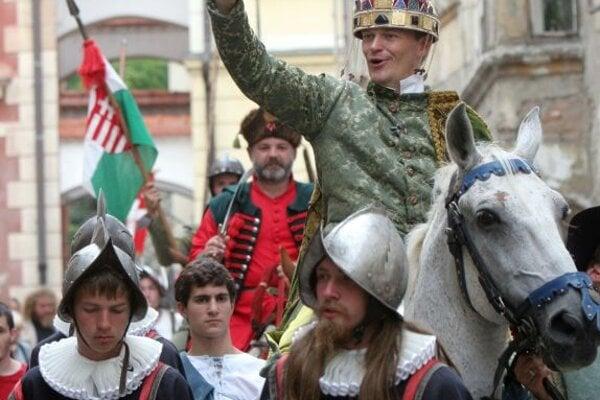 Re-enactment of a coronation.