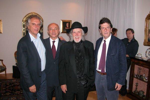 (From left:) Film director Marco Risi, translator František Hruška, film director Juraj Jakubisko and screenwriter Andrea Purgatori.