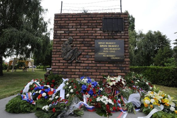 The Roma Holocaust memorial in Dunajská Streda