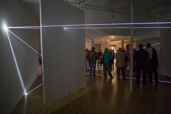 Carlo Bernardini's works installe din Milan Dobeš Museum, Bratislava