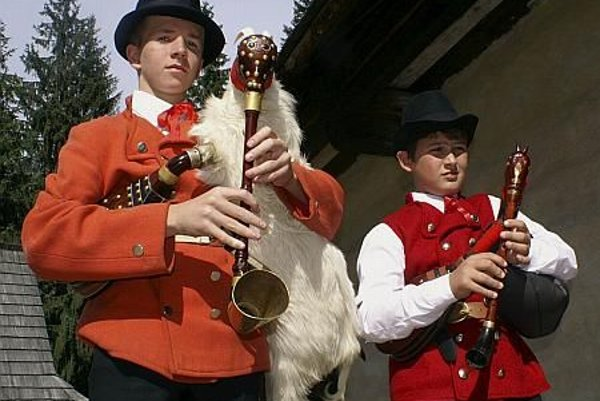 Young participants at the Gajdovačka (Bagpipe) Festival in May.