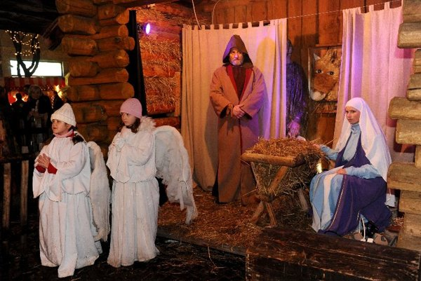 Christmastime re-enactments of the Nativity story are popular all over Slovakia.