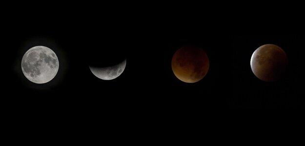 Total lunar eclipse as seen in Pezinok.