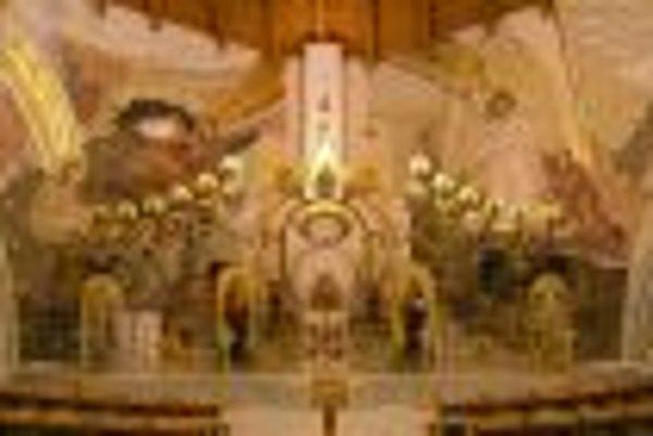 Mosaic in Greek-Catholic Church in Spišská nová Ves