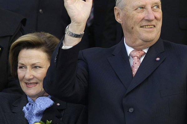 King Harald and Queen Sonja in Banská Štiavnica.