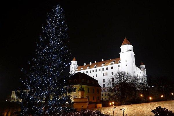 Christmas has come to Bratislava castle.