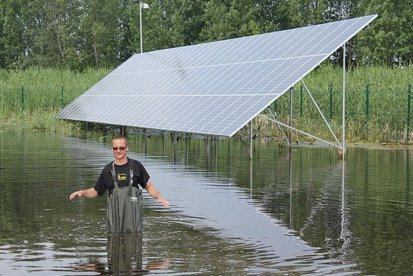 Photovoltaic power sources can be built on marginal land, like swamps.