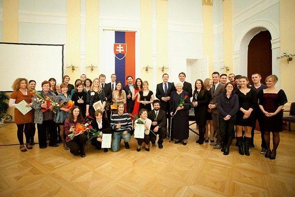 The closing ceremony in Bratislava.
