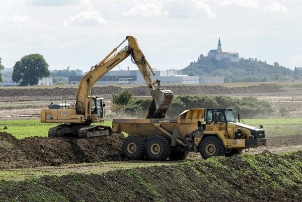 Work is underway on the strategic park in Nitra.