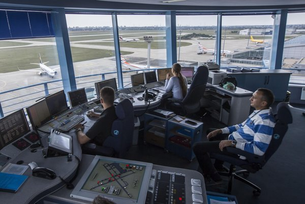 The air traffic sector features high earners.