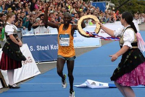 Winner Kosgei finished his Košice marathone.