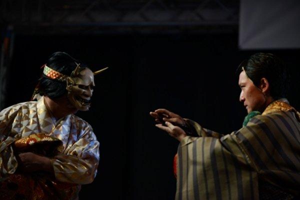 Mrs. Aoi, performance of the Yamamoto Noh-gakudo (Noh theatre) in Bratislava.