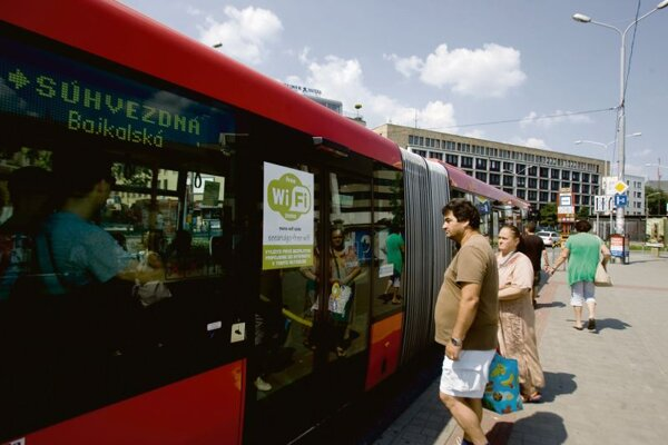 50 Bratislava city buses now offer free Wi-Fi.