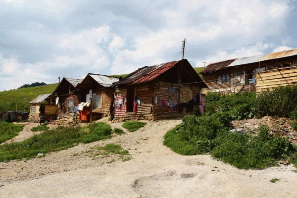 The Roma settlement in Žehra.