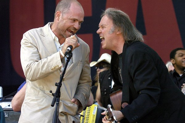 Gord Downie (left) and Neil Young.