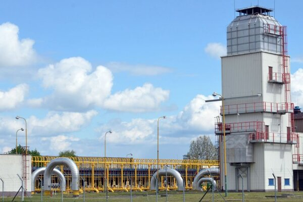 The natural gas compressor station in Veľké Kapušany.