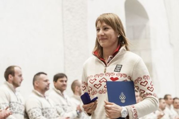 Čičmany's distinctive ornaments already decorated clothes of Slovak athletes at Olympic games.