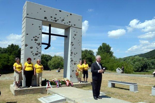 Former dissident Anton Srholec at the Freedom Gate memorial, June 27