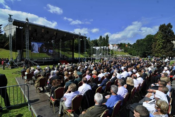 At least 10,000 guests were expected to attend the celebrations of the 70th anniversary of the SNP.