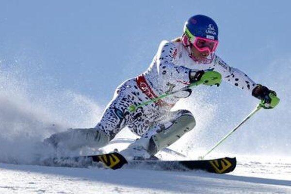 Velez-Zuzulová in the Maribor slalom World Cup event.