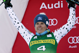 Veronika Velez Zuzulová palced 2nd in Aspen's slalom of the World Cup series, November 28