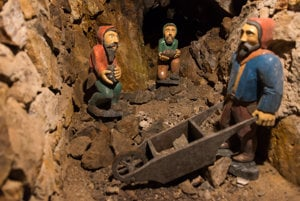 Mine dwarfs, permoníci, can be sometimes spotted in Slovak mines, the legend has it.