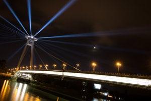 SNP Bridge during White Night